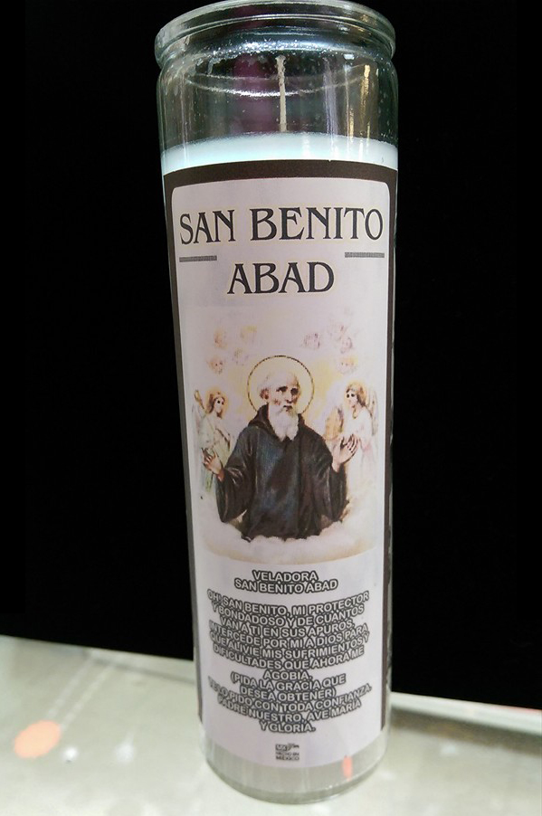 Saint Benito Devotional Candle | Mystical Products in Houston, TX